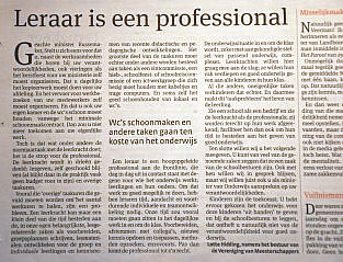parool artikel brief leraar is een professional